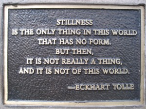 Stillness_by_Eckhart_Tolle,_on_a_Park_bench_plaque,_facing_Sacramento_River,_Redding_CA
